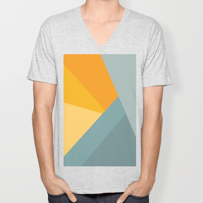 Abstract Mountain Sunrise Unisex V-Neck
