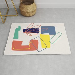 Color block abstract impressionist Rug