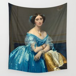 "Jean-Auguste-Dominique Ingres ""Éléonore-Marie-Pauline de Galard de Brassac de Béarn (1825–1860), princesse de Broglie"" Wall Tapestry"