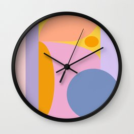 Pink and Lavender 01 Wall Clock