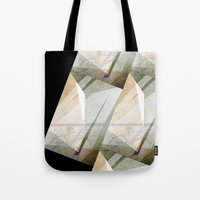 bicycles Tote Bags featuring The bicycles by dominiquelandau