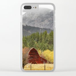 The Red Barn Clear iPhone Case