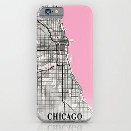 Chicago - Illinois Neapolitan City Map iPhone Case