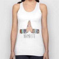 namaste Tank Tops featuring Namaste by Serra Kiziltas