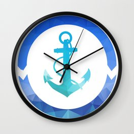 Anchor low-poly vector illustration. Wall Clock