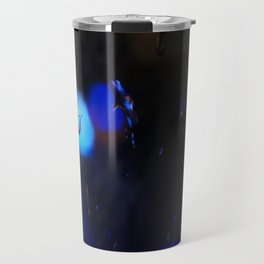 An abstract background with night lights and raindrops. Travel Mug
