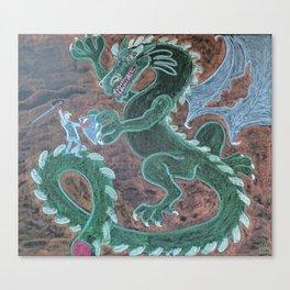 St. George Battles the Dragon Canvas Print