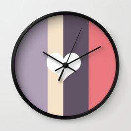 Girly Pastel Wall Clock