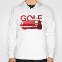 volkswagen Hoodies featuring Volkswagen Golf - classic red - by Vehicle