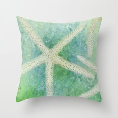 Seastars Throw Pillow