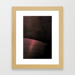 Deep Red architectural abstract of the LA Phil designed by Frank Gehry Framed Art Print