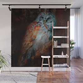 Abstract Barred Owl Wall Mural