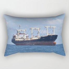Cargo Ship In The Black Sea Rectangular Pillow