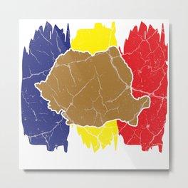 Romania gift Bucharest Transylvania Romanian Metal Print