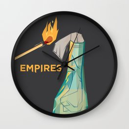 Empires Molotov Cocktail Print - BAND NAME ONLY Wall Clock