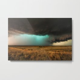 Jewel of the Plains - Storm in Texas Metal Print