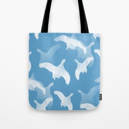 White Birds Against The Blue Sky #decor #society6 #homedecor Tote Bag