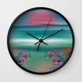 """Summer Beach Seascape"" Wall Clock"