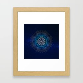 Cosmic Mandala Framed Art Print