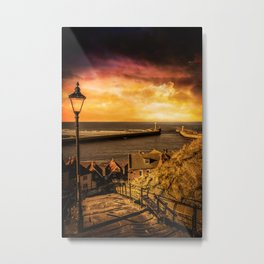 Whitby Wanderer Metal Print