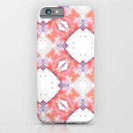 Watercolor red geometrica pattern iPhone Case