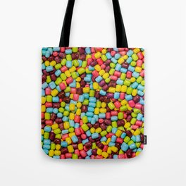Cotton Candy Marshmallow Candies Pattern Tote Bag