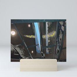 Afloat sandbox Mini Art Print