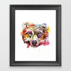 Vivid Grizzly Framed Art Print