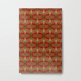 Pattern orangered 3 Metal Print