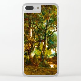 Theodore Rousseau Forest of Fontainebleau Clear iPhone Case