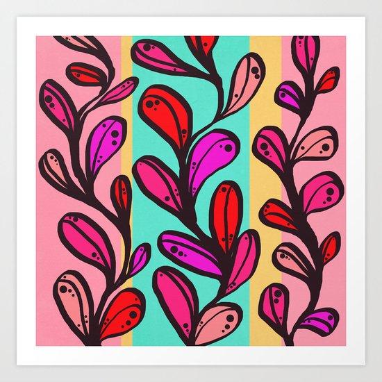 Chloe - Pink Art Print