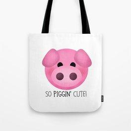 So Piggin' Cute! Tote Bag