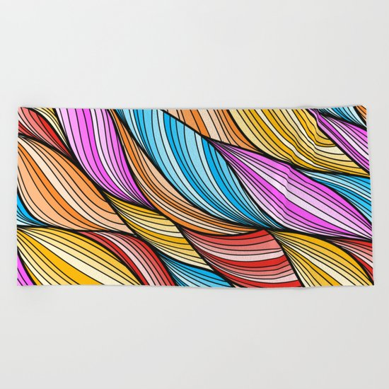 Colorful Fur Beach Towel