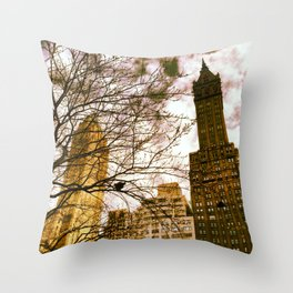 seeing through the trees, clouds ahead. Throw Pillow