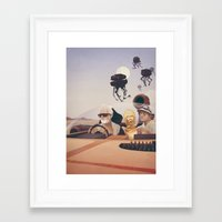 fear Framed Art Prints featuring Fear and Loathing on Tatooine by Anton Marrast