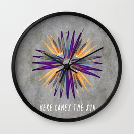 Here comes the sun Wall Clock