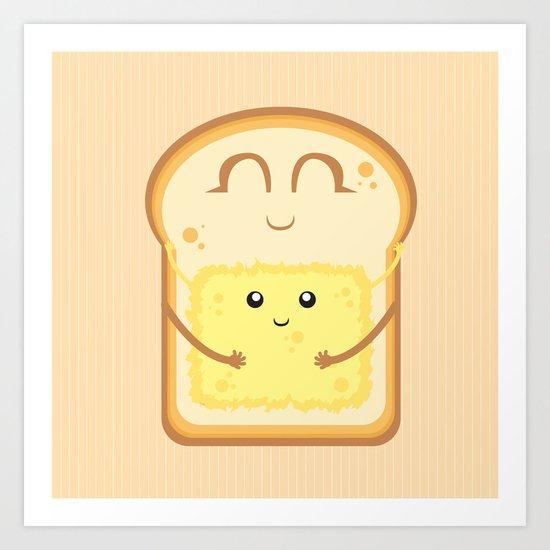Hug the Butter Art Print