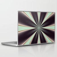 ashton irwin Laptop & iPad Skins featuring Fractal Pinch in BMAP01 by Charma Rose
