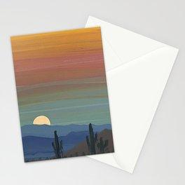 Arizona Moonrise Stationery Cards