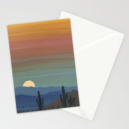 Arizona Moonrise Stationery Cards