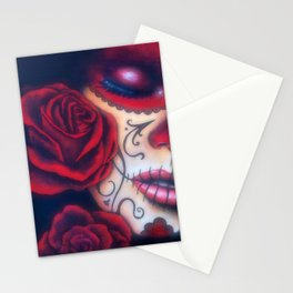 Red Catrina Stationery Cards