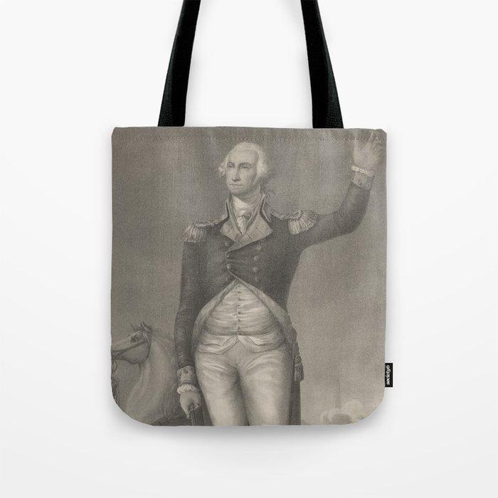 Vintage George Washington Portrait (1854) Tote Bag