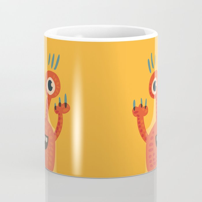 Funny Orange Happy Creature Coffee Mug