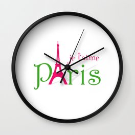 I love Paris Wall Clock