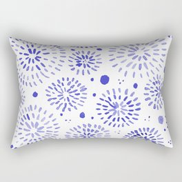 Abstract watercolor sparkles – blue Rectangular Pillow