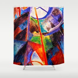 Abstact by Franz Marc Shower Curtain