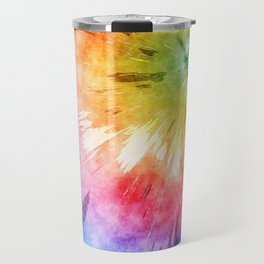 Tie Dye Watercolor Travel Mug