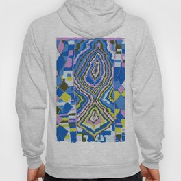Abstract Tribal Rug in Royal Blue Hoody