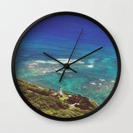 Top Of The Diamond Head Wall Clock