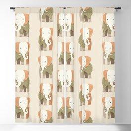 Whimsical Elephant Blackout Curtain